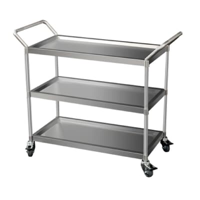Stainless Steel 3 Tier Trolley, 870mm L x 420mm W x 800mm H