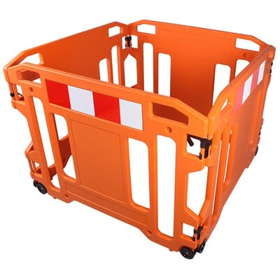 Collapsible Wheeled Barrier, 1000-4000L, 900H, orange