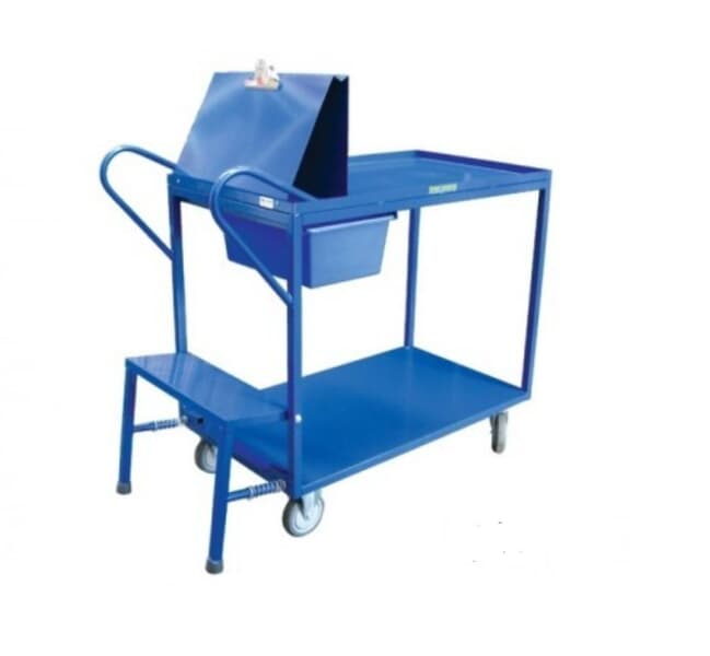 Trolley with clipboard