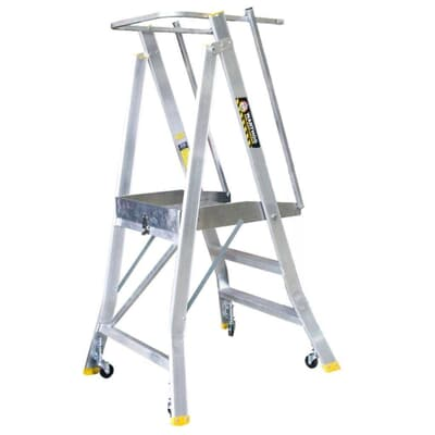 Warthog Order Picking Ladder, Spring Wheel