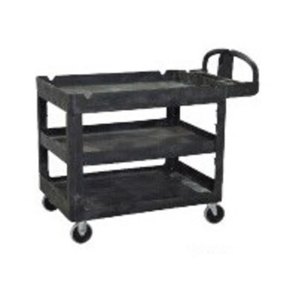 Heavy Duty 3 Tier Utility Cart, 1150L x 640W x 987H, black