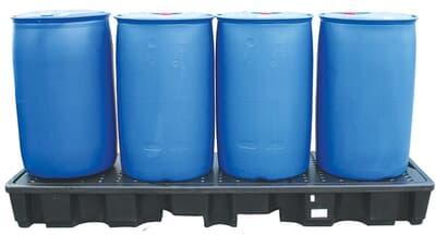 Poly Inline SpillPallet, 4 drum, 2445L x 660W x 270H