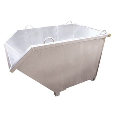 Tipping Bin With Pour Edge