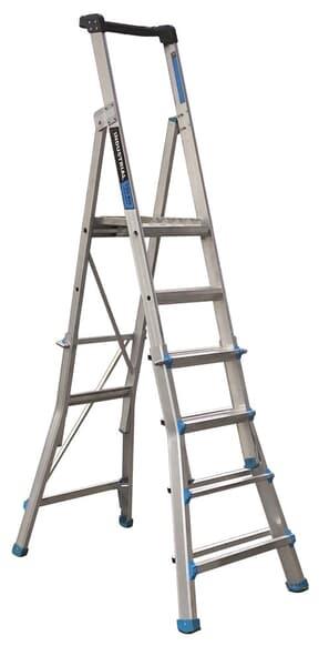 Trade Series Telescopic Platform Ladder, 5-step to 9-step