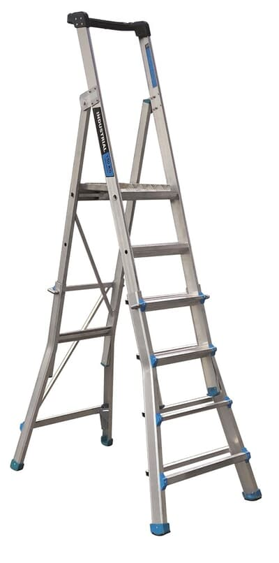 Trade Series Telescopic Platform Ladder, 5-step to 9-step