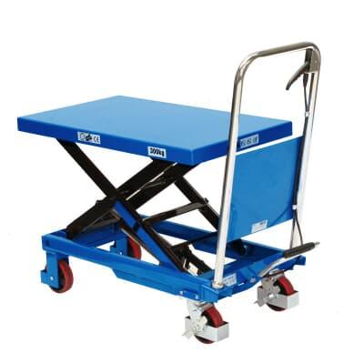 Mobile Scissor Table, 300kg capacity, 500W x 855L platform