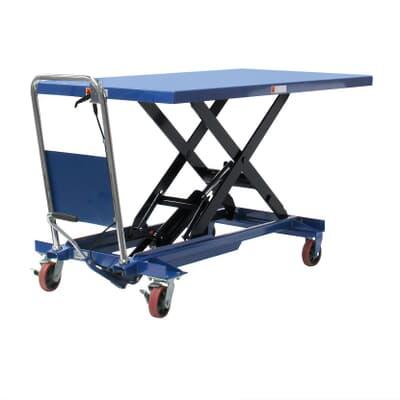 Mobile Scissor Table, large, 500kg, 1600L x 800W