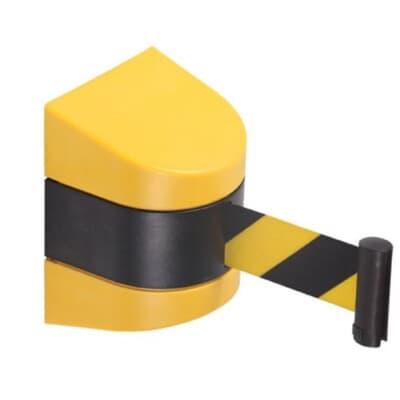 Magnetic Retractable Belt, 4.6m, black/yellow belt