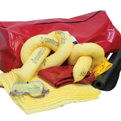 Truck Spill Kit, aggressive, Red PVC carry case