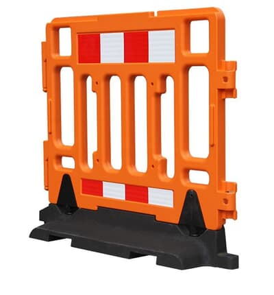Heavy Base Temporary Barrier, 1000H x 1000L